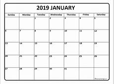 January 2019 Weekly Calendar Printable Site About Template