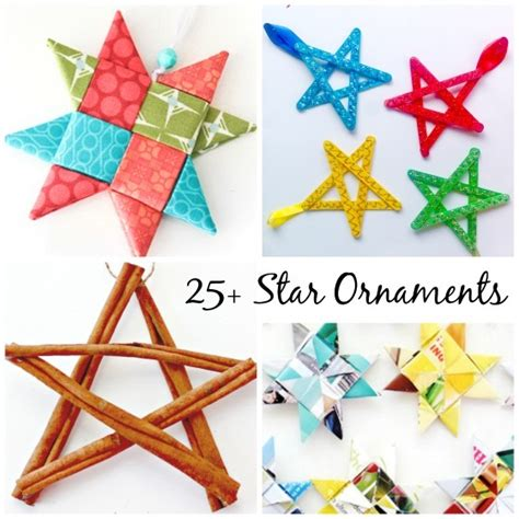 gorgeous ornaments to make happy hooligans 810 | 25 Homemade Star Ornaments