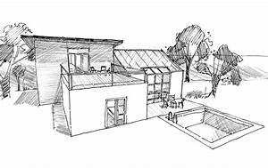 Dessin De Piscine : plan maison moderne avec piscine ooreka ~ Melissatoandfro.com Idées de Décoration