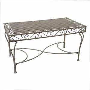 Table Jardin Fer Forgé : table basse table basse de jardin en fer forge ~ Dailycaller-alerts.com Idées de Décoration