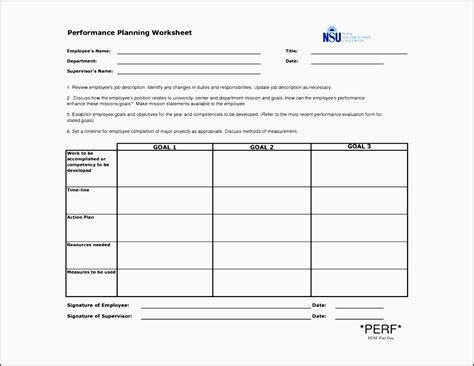 create a performance improvement plan worksheet 5 project action plan template sletemplatess