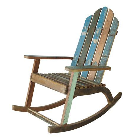 sedia  dondolo  legno riciclato calanque maisons du monde