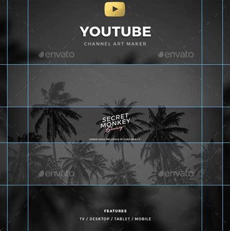 youtube channel art template   psd ai vector