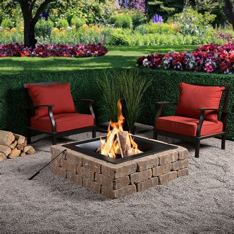 diy square gas fire pit kit bond mfg heating