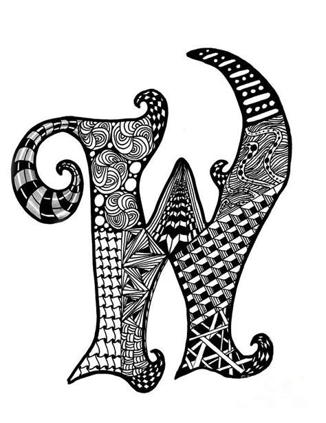 zentangle letter y monogram drawing zentangle alpha zentangle letter w monogram drawing zentangle alpha 87671