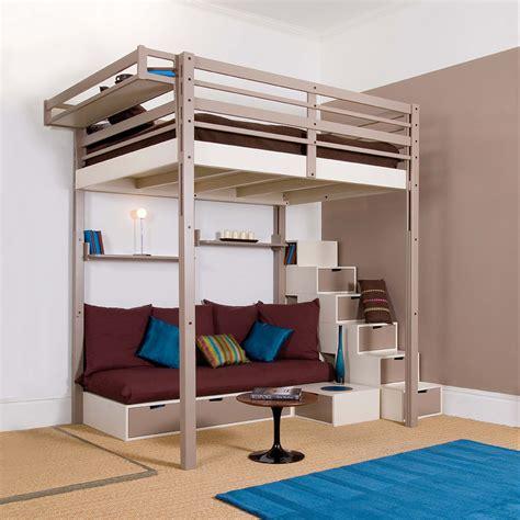 canapé lit tiroir adulte lits mezzanines modulable