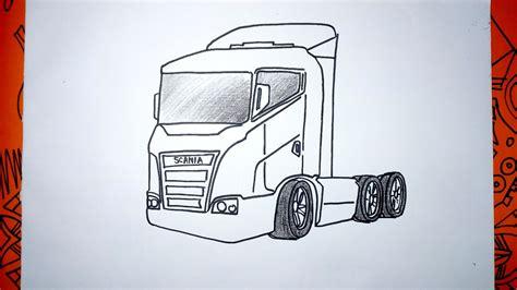 Cómo dibujar un Camión Europa Scania paso a paso YouTube