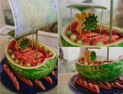Where The Wild Things Are Fruit Boat by Melon Boats Recipe Dishmaps
