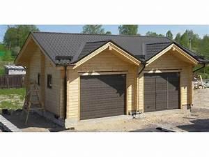 Garage Voiture En Bois : garage double en bois ~ Dallasstarsshop.com Idées de Décoration