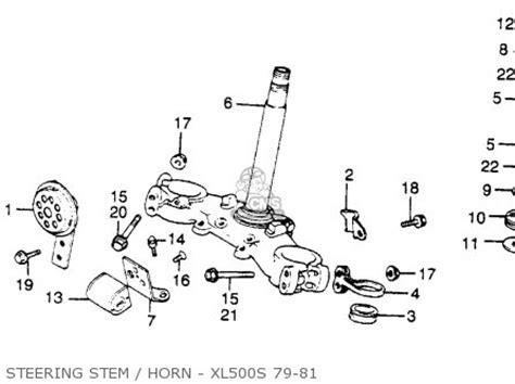 honda xl500s 1981 b usa parts lists and schematics