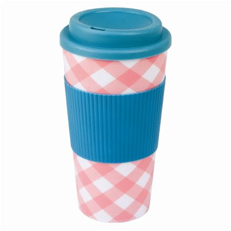 450ml Thermal Plastic Silicone Travel Mug Cup Hot Drink Beverage Various Designs   eBay