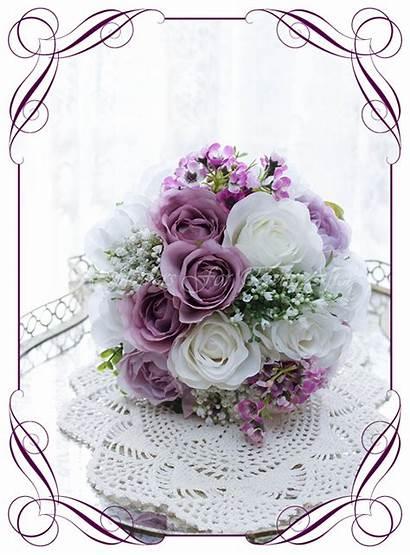 Bouquet Carrie Flowers Purple Bouquets Silk Artificial