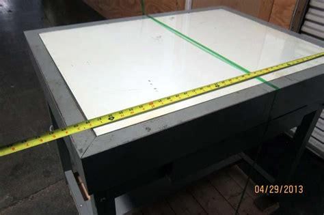 drafting table with lightbox lot 99 stacor tr 336 36 x 26 quot drawing tracing stencil