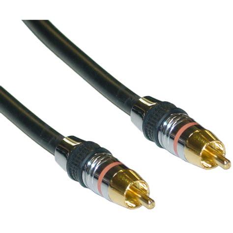6ft Premium Grade Digital Coaxial Rca Cable, 24k Gold, 75 Ohm
