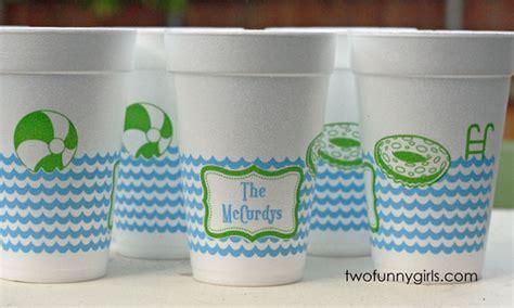 personalized swimming pool plastic stadium cups