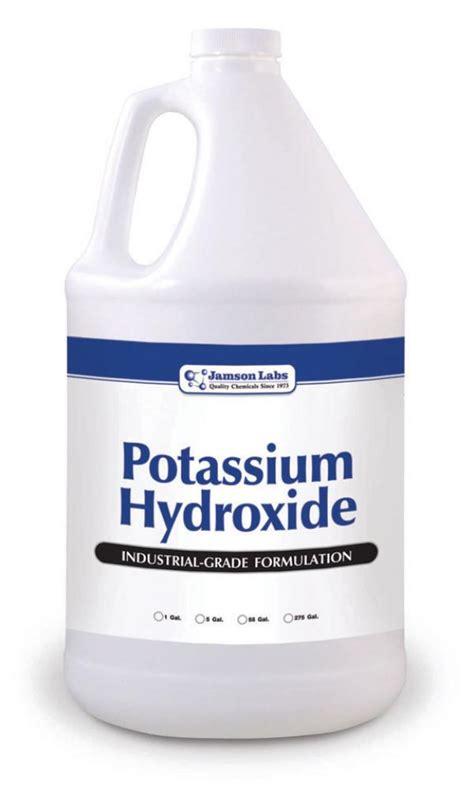 potassium hydroxide caustic potash liquid 45 jamson labs power kleen