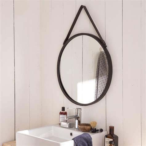Miroir Barbier noir l 53 x H 53 cm Leroy Merlin