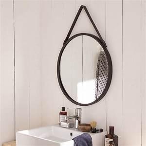 Miroir Rond à Suspendre : miroir barbier noir x cm leroy merlin ~ Teatrodelosmanantiales.com Idées de Décoration