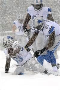 Detroit Lions Snow Game