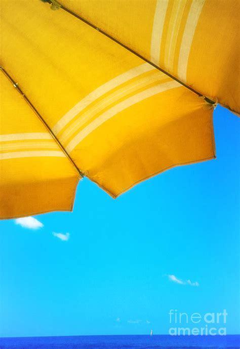 Sailboat Umbrella by Yellow Umbrella With Sea And Sailboat Photograph By Silvia