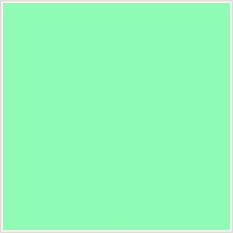 color mint 8efab4 hex color rgb 142 250 180 aquamarine green