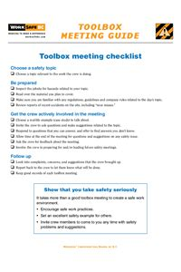 tailgate safety meeting form newatvsinfo