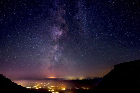 Free Images Night Sky Stars Town Nature Atmosphere