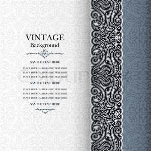 vintage background antique invitation card royal With wedding invitation flower ornaments