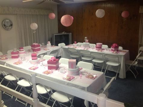 how to set up a baby shower girl baby shower set up baby shower pinterest