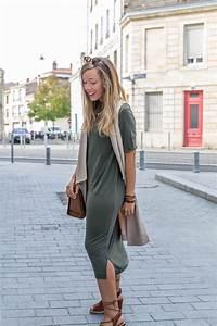 kaki beige camel blog mode la penderie de chloe With robe fourreau combiné avec bracelet hipanema bordeaux