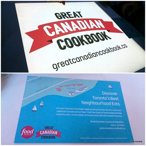 cookbook canadian network food