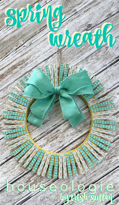 spring wreath clothespins  craft tape houseologie