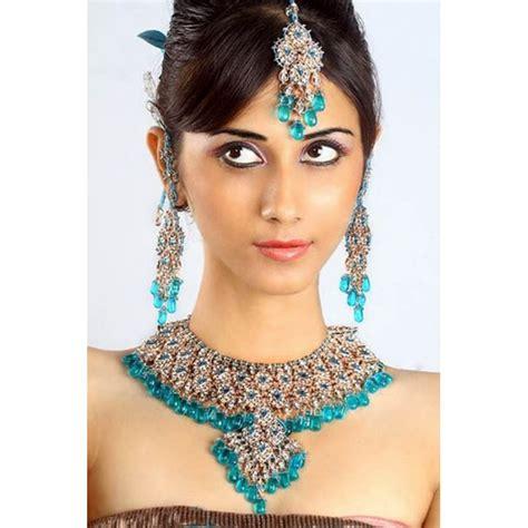 cuisine turc achat parure indienne bleue turquoise bijoux mariage