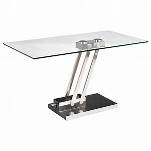 Interesting Rectangular Glass Coffee Table With Wooden