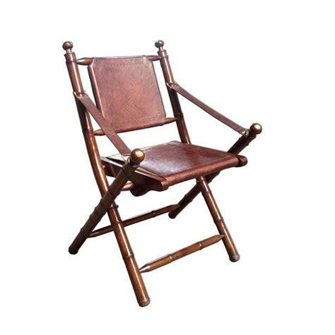 chaise pliante vintage en cuir  bambou achat vente