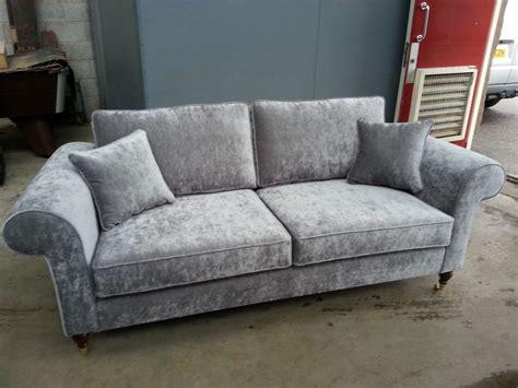 velvet settee bespoke 3 seater sofa settee silver grey velvet various