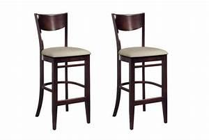 Tabouret Bar Bois : lot de 2 tabourets de bar en bois bonnie design sur sofactory ~ Teatrodelosmanantiales.com Idées de Décoration