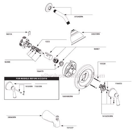 moen bathroom faucet parts moen 82912srn parts list and diagram ereplacementparts