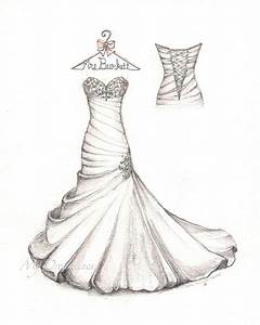 wedding dress sketch for your first anniversary satin With wedding dress sketches