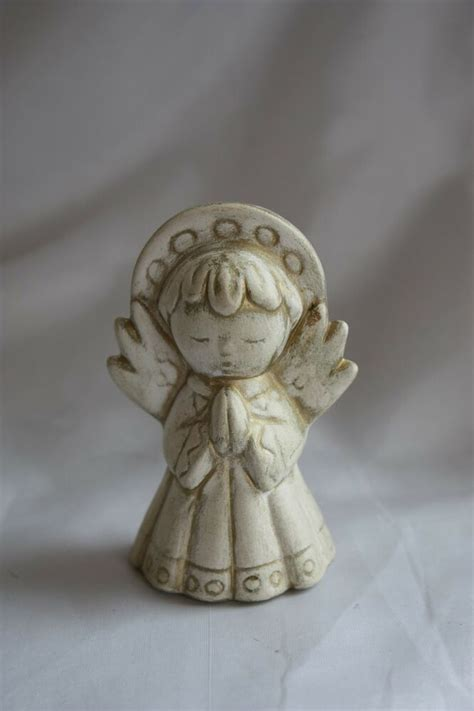 ivory  gold hand painted ceramic angel christmas