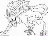 Coloring Wolf Kleurplaten Demon Anime Adults Kleurplaat Printable Afkomstig Printables sketch template