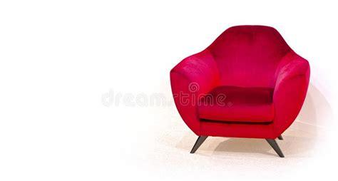 Poltrona Classica Rossa Moderna Isolata Su Fondo Bianco