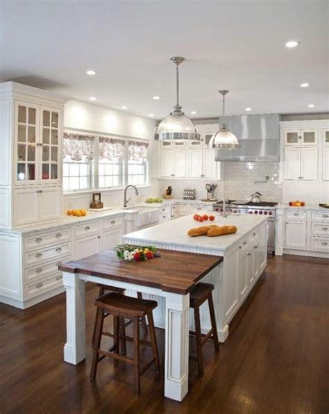 2 level kitchen island 37 comfy kitchen islands with breakfast nooks