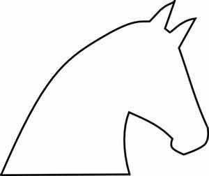 Horse Outline No Fill Clip Art at Clker.com - vector clip ...