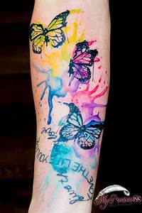 Watercolor butterfly tattoo | My Precious Ink | Pinterest ...