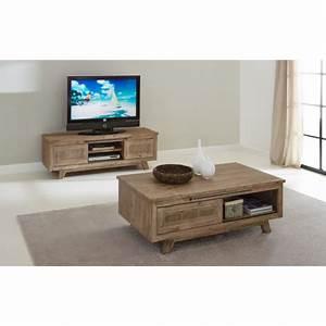 Meuble Tv Bois Gris : ensemble salon eva meuble tv table basse coloris misty grey atout mobilier ~ Teatrodelosmanantiales.com Idées de Décoration