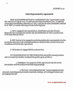 Contract Outlines Sales Representative Agreement Download Pdf Agreements Org
