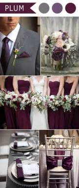 plum wedding colors 5 different shades of purple wedding colors