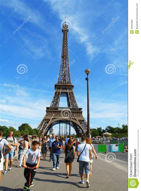 eiffel tower  paris editorial stock photo image