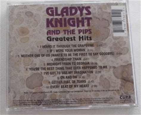 Greatest Hits Gladys Knight & The Pips (cd, Jul1990